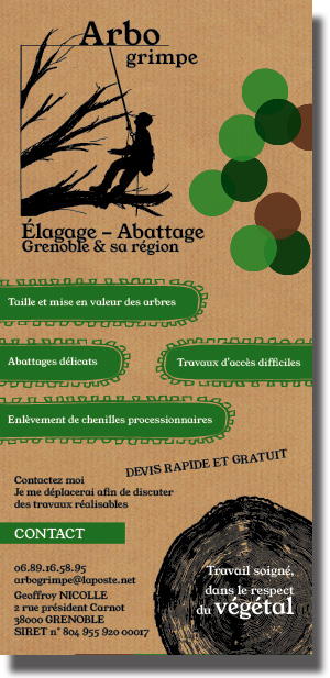 flyer graphiste grenoble arbogrimpe